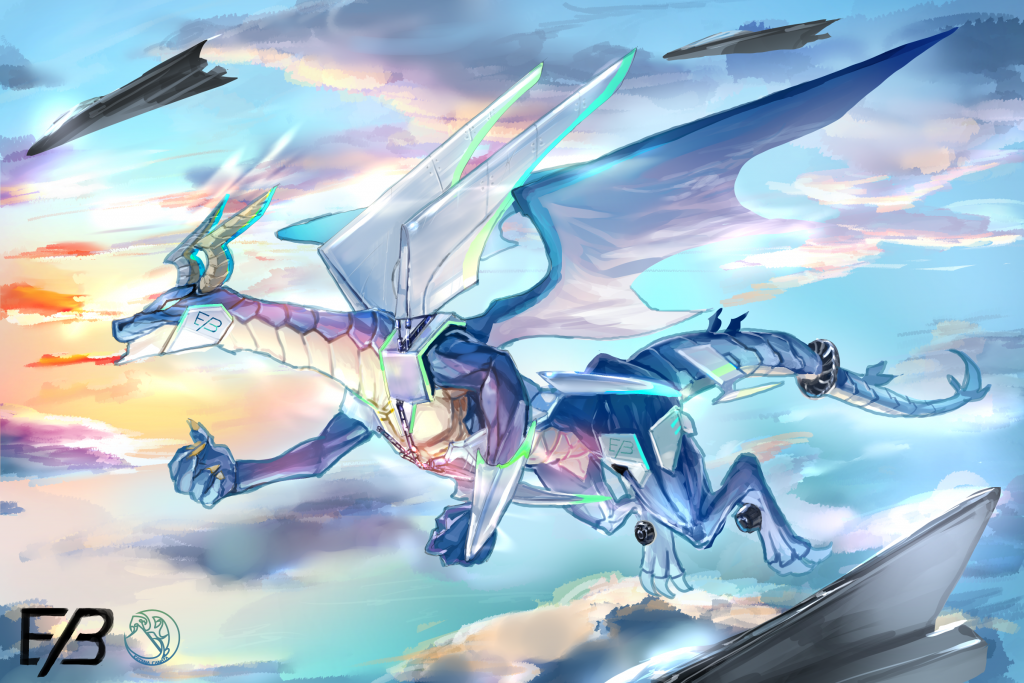 ドラゴンとメカ