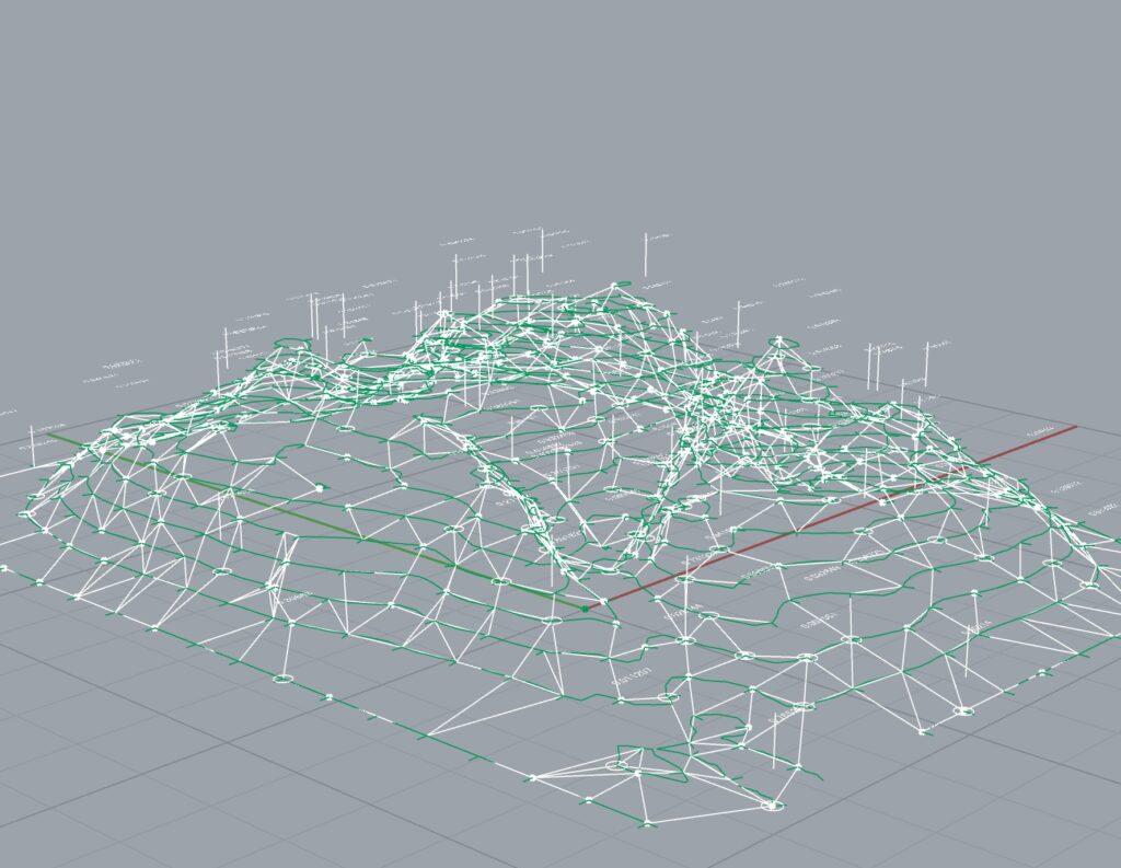 メッシュ山3D